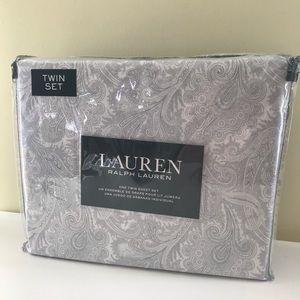 Ralph Lauren Pastel Paisley Cotton Tween Sheet Set